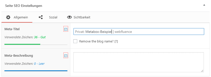 The SEO Framework Metabox