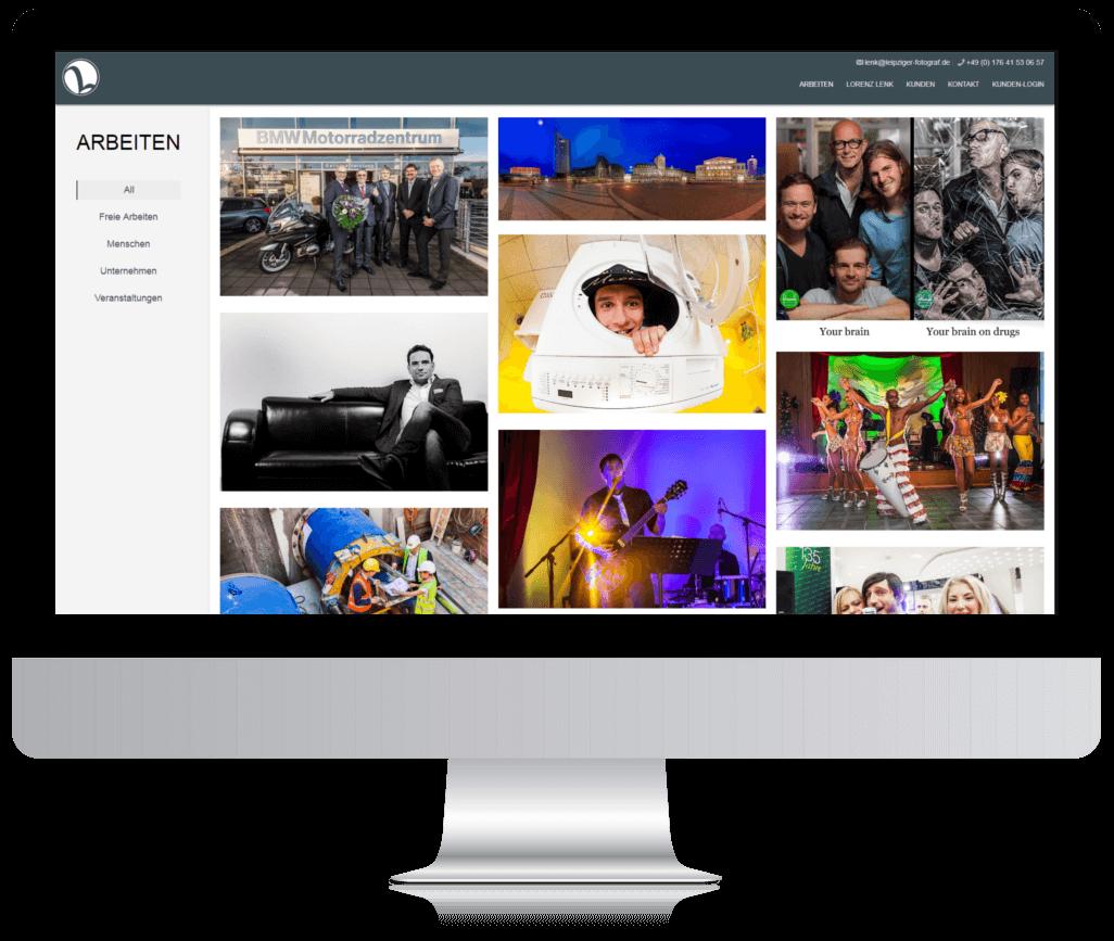 Webseite vom Leipziger Fotograf Lorenz Lenk nach dem Relaunch
